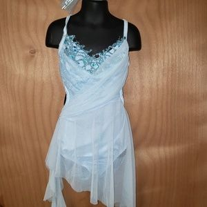 Lt blue dance recital costume
